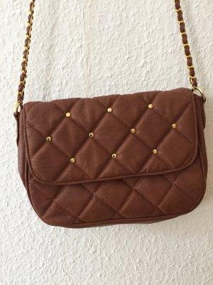 Cognacfarbene Tasche mit Kettenhenkel von Asos