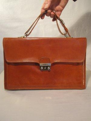 Cognacfarbene Vintage-Tasche