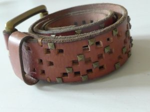 Calvin Klein Jeans Studded Belt cognac-coloured leather