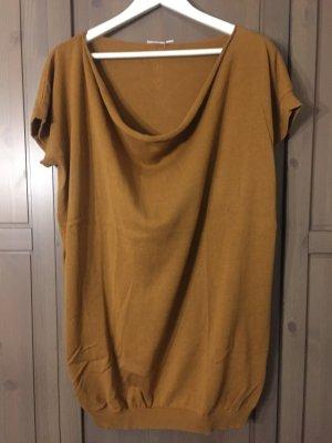 Jersey de manga corta coñac