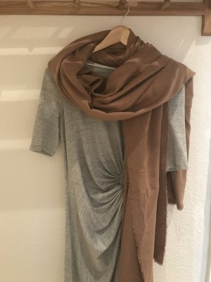 Zara Écharpe en laine bronze-marron clair