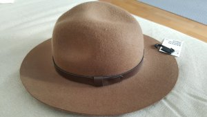 H&M Woolen Hat cognac-coloured wool