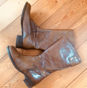 Short Boots cognac-coloured