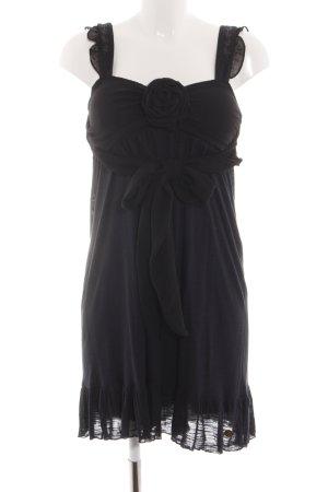 Colcci Babydoll-jurk zwart gestippeld klassieke stijl
