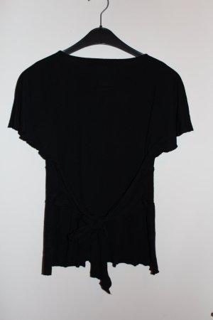 Colcci Bluse Top Shirt sexy schwarz Damen Gr. M / 38 Tief V-Auschnitt