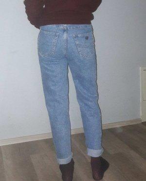 High Waist Trousers blue-cornflower blue cotton