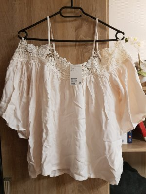 H&M Divided Top sin hombros blanco