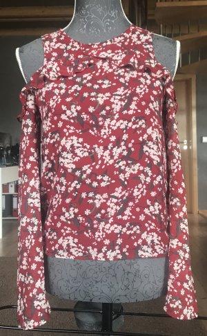 Cold-Shoulder-Bluse Gr. 34 Blumenmuster rot floral