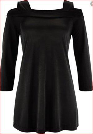 Cold-Shoulder-Longshirt bpc  schwarz