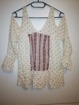 Cold-Shoulder/Off-Shoulder Bluse
