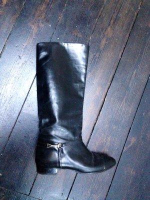 Cole Haan Designer Blogger Reiter Stiefel 37 36 Echtleder Leder