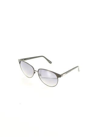 Cole Haan ovale Sonnenbrille schwarz Beach-Look