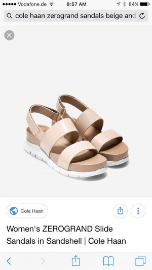 Cole Haan Comfort Sandals white-nude leather