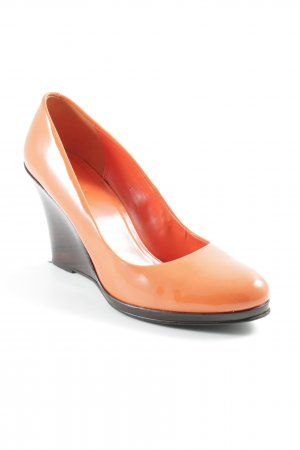 Cole Haan Wedge Sandals orange-dark brown extravagant style