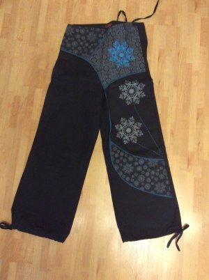 Pantalón de lino multicolor