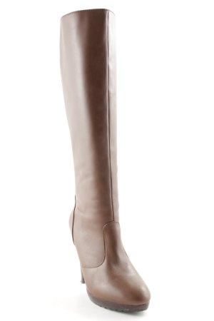 Colin Stuart High Heel Stiefel braun-dunkelbraun schlichter Stil