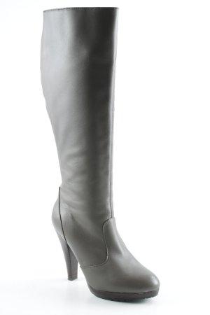 Colin Stuart High Heel Stiefel graubraun-dunkelbraun schlichter Stil