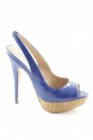 Colin Stuart High Heels blau Lack-Optik