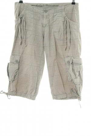 Colins Bermudas natural white-brown check pattern casual look