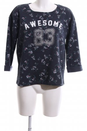 Colins Sweat Shirt blue flower pattern casual look