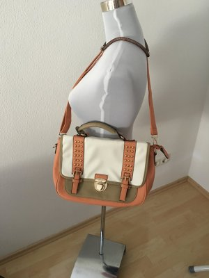 Collage Bag in taupe und Apricot