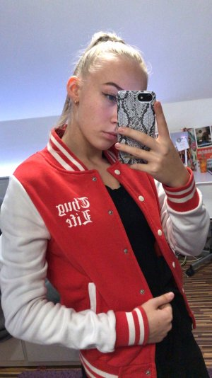 College Jacket white-red
