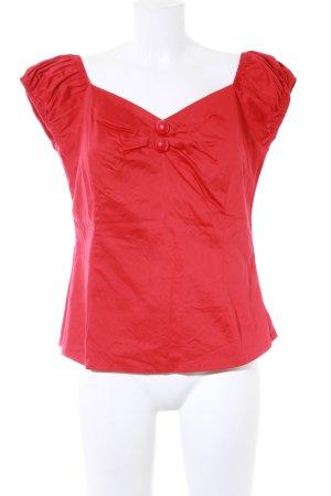 Collectif Kurzarm-Bluse rot Rockabilly-Look