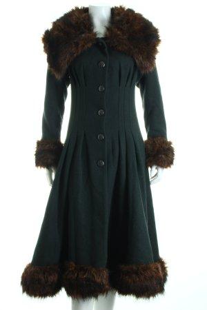 Collectif Wintermantel waldgrün klassischer Stil