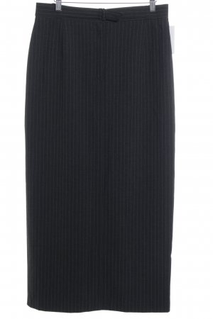 Collection Chalice Pencil Skirt dark grey-white pinstripe business style