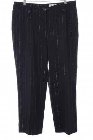 Collection Chalice Jersey Pants black-silver-colored pinstripe business style