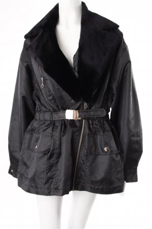 Collection Jacke Fake Fur Kragen Schwarz