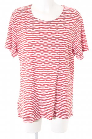 Collection L Camiseta blanco-rojo estampado a rayas look casual