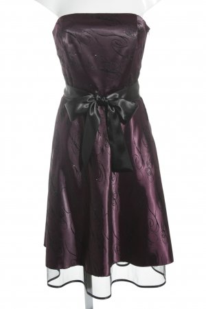 Collection Paris Bustierkleid schwarz-dunkelviolett Ornamentenmuster Elegant