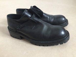 Collection Privée? Chaussures à lacets noir cuir