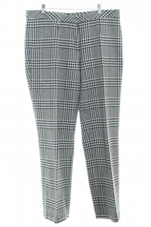 Collection Wollen broek wit-zwart pied-de-poule patroon casual uitstraling