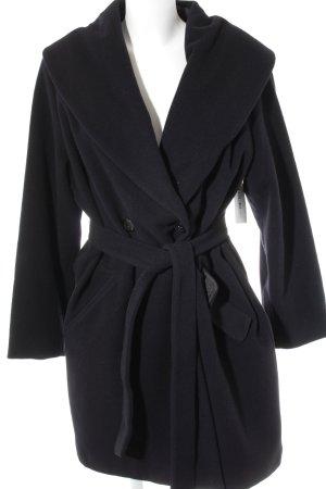 Collection Wollmantel schwarz klassischer Stil