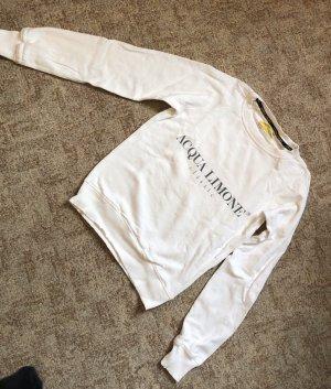 Sweatshirt wit-geel