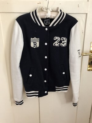 College Jacket white-dark blue