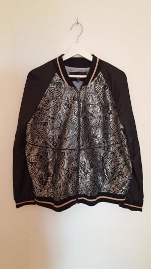 College Jacke mit silbernen Zebra Druck