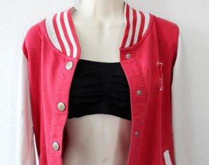 College-Jacke rot weiß