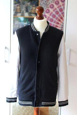 College Jacke schwarz-weiß H&M 36 38 S