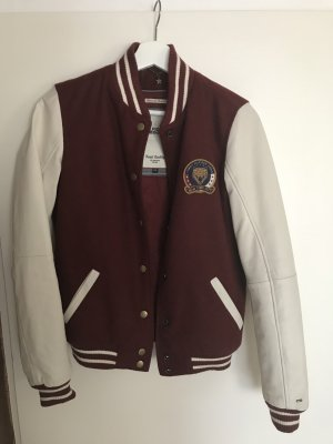 Tommy Hilfiger Denim College Jacket bordeaux-white
