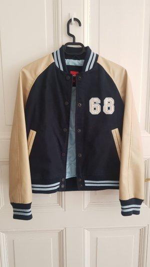 Esprit College Jacket dark blue-cream