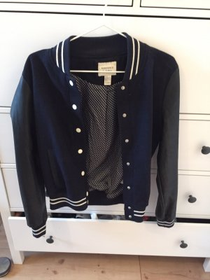 Forever 21 College Jacket black-dark blue