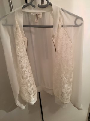 H&M Blusa transparente blanco puro