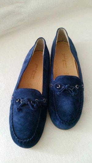 College Slipper, blaues Wildleder, Paul Green