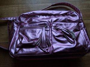 b.p.c. Bonprix Collection College Bag violet-pink imitation leather