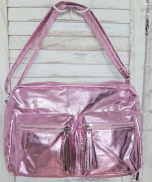 b.p.c. Bonprix Collection Bolso estilo universitario violeta-rosa