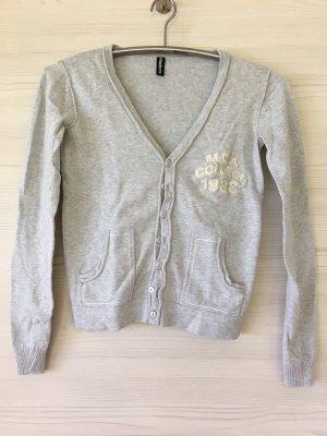 Madonna Gilet tricoté gris clair-blanc