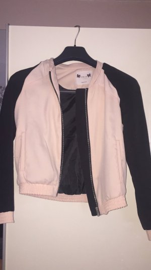 Bershka College Jacket black-nude